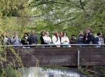 Osnabrück, Stadtführung zu Fuß, Brücke Stadtfluss Herrenteichswall