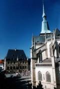 Das Rathaus und die Marienkirche in Osnabrück